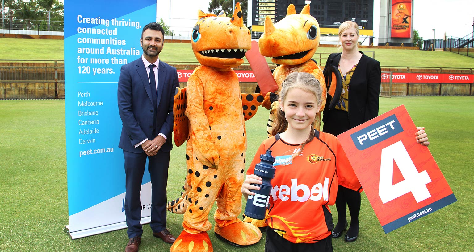 Peet and Scorchers announcement