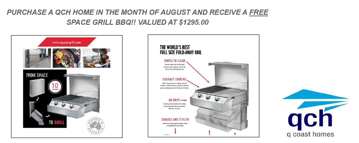 Q Coast homes space grill offer
