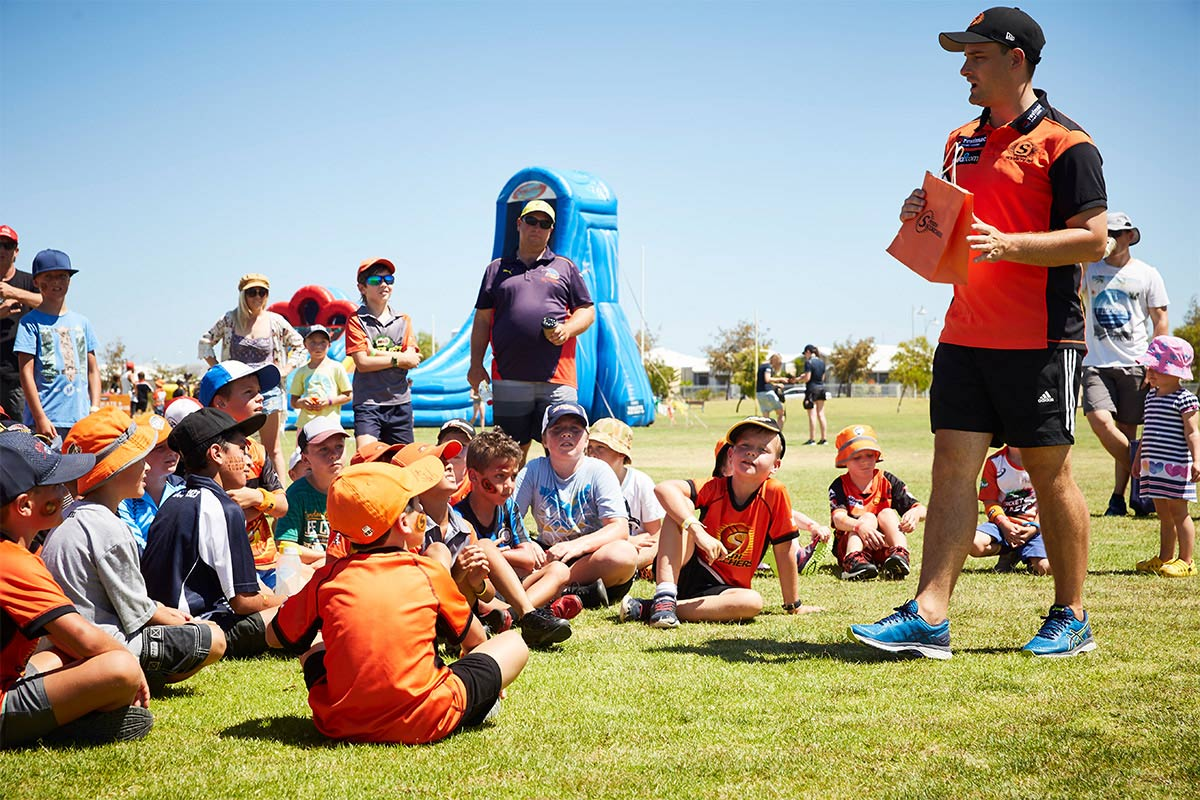 Golden Bay Perth Scorchers Community Fan Day Event