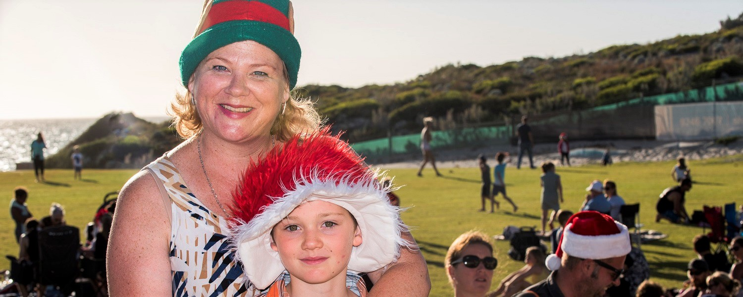 Carols by the Sea_mum and son