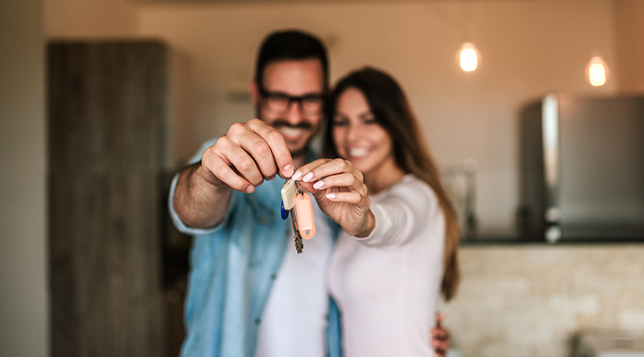Couple with keys