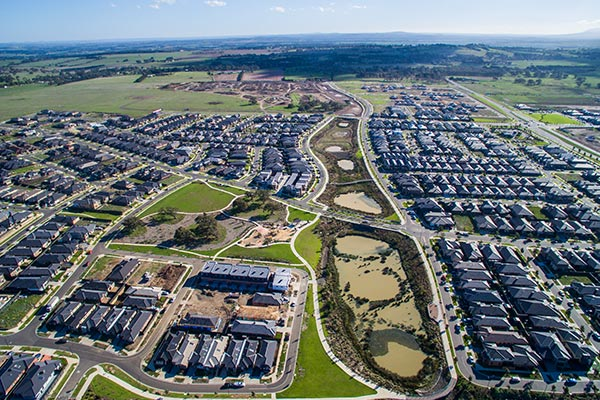 Aerial shot of Aston