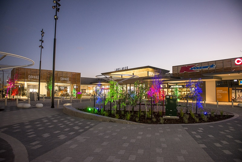lakelands shopping centre night time