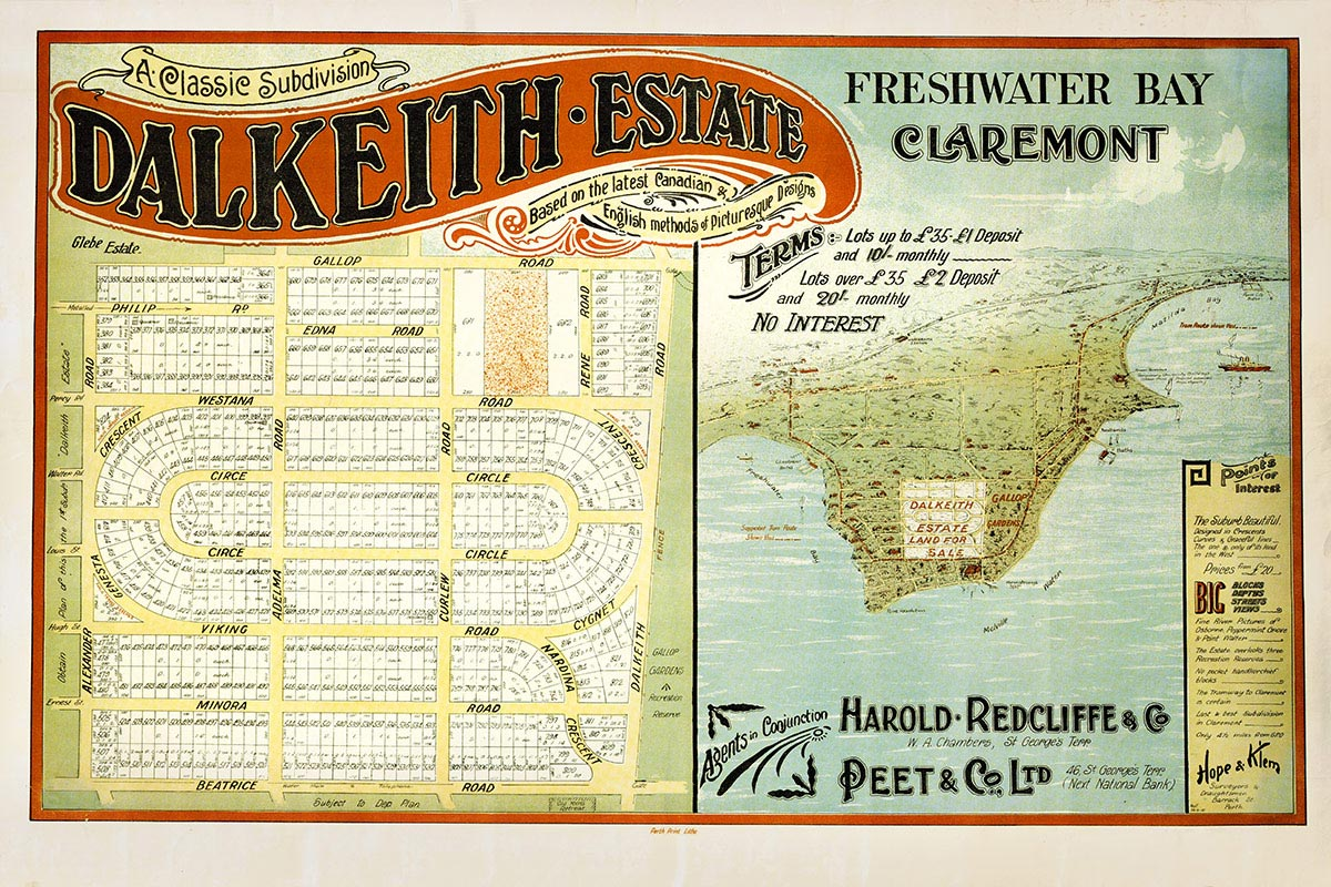 Dalkeith Estate advertisement 1950