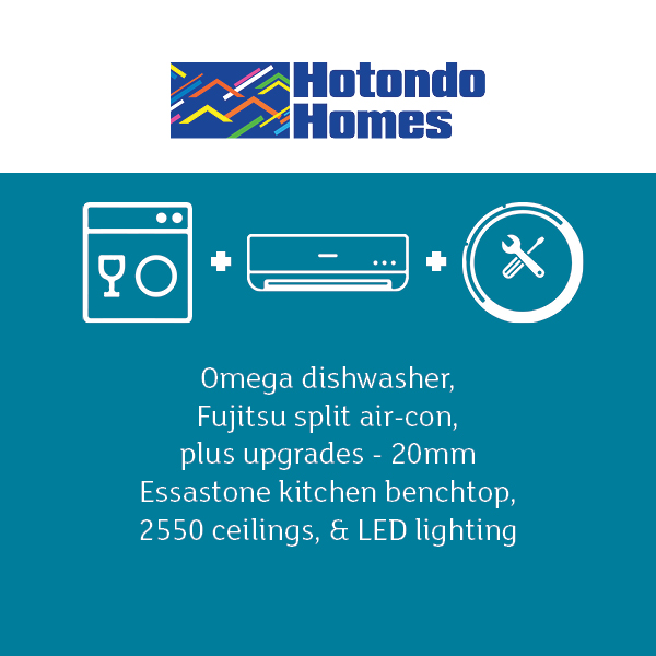 Hotondo homes free dishwasher aircon and upgrades builder offer