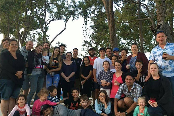 Friends having a gathering at the local park in Wellard.