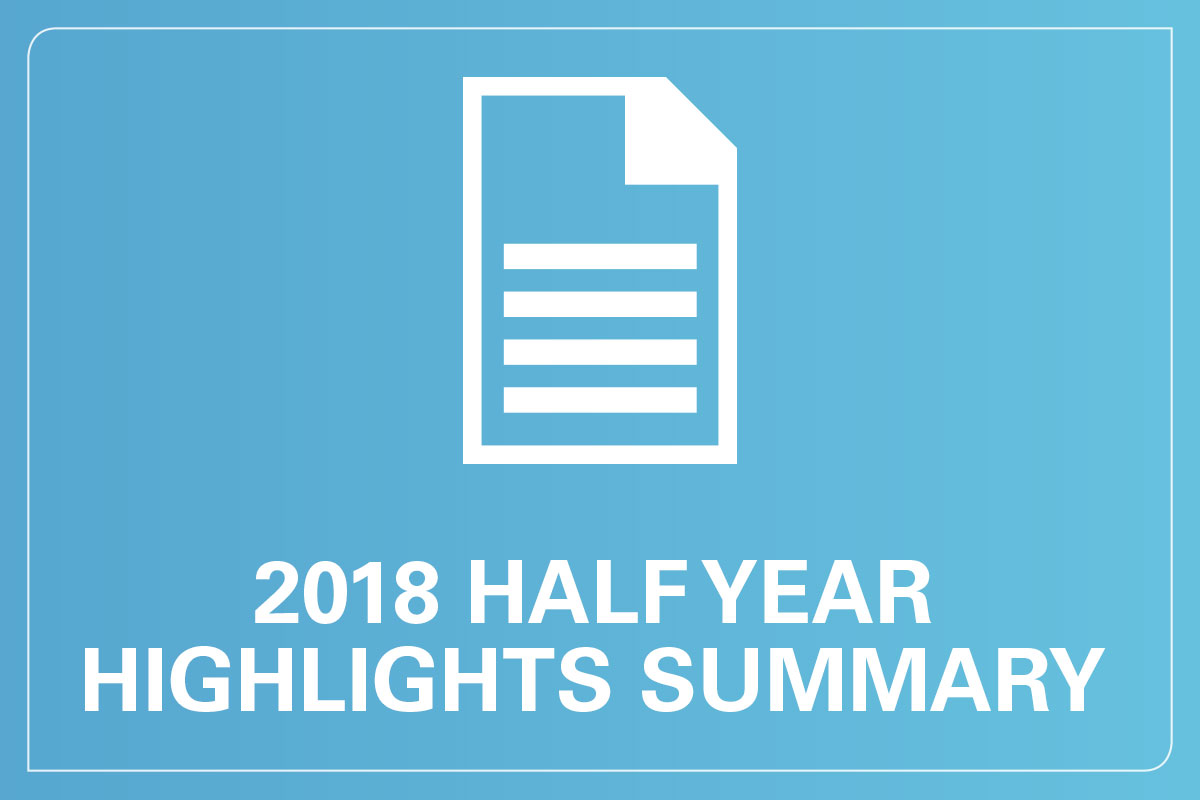 2018 half year results highlights summary