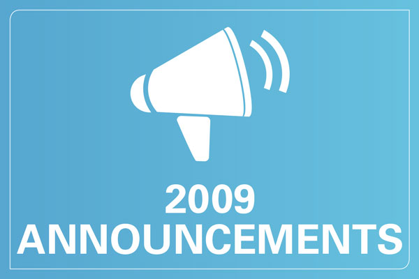 2009 announcements