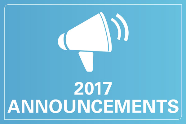 2017 announcements