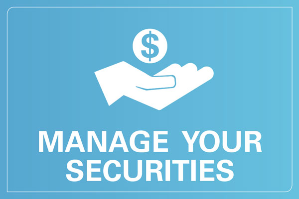 Manage your securities