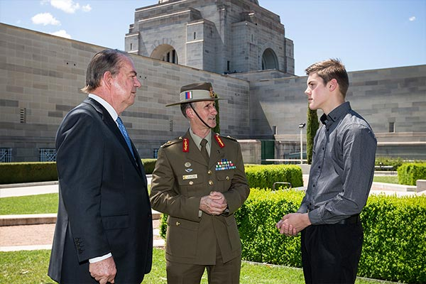 Major General Stuart Smith AO, DSC, Legacy Australian Ambassador and former Legacy ward launched the OLAKC in Canberra
