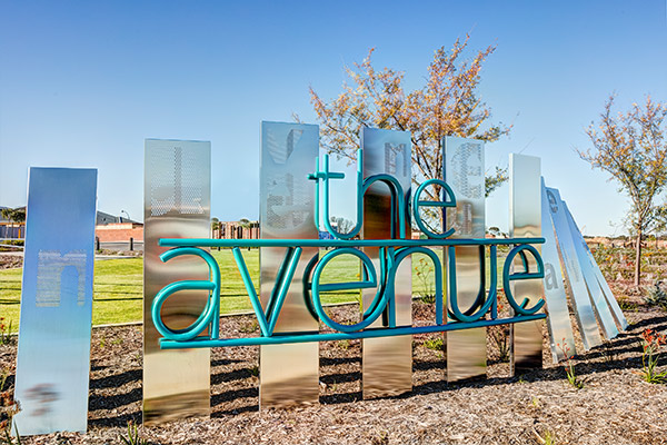 The Avenue - feature sign
