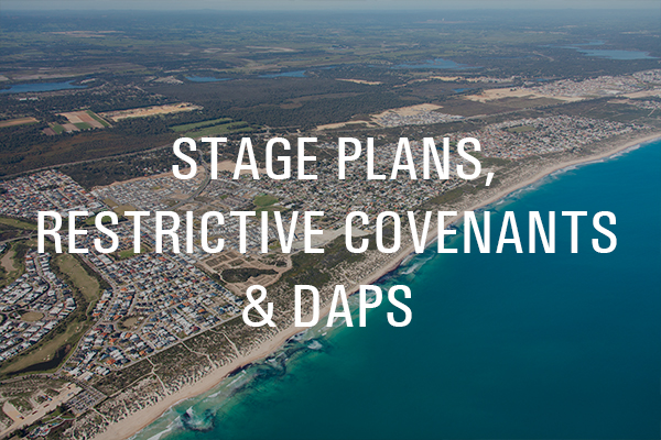 Golden Bay Builder Stage Plans Restrictive Covenants and DAPs