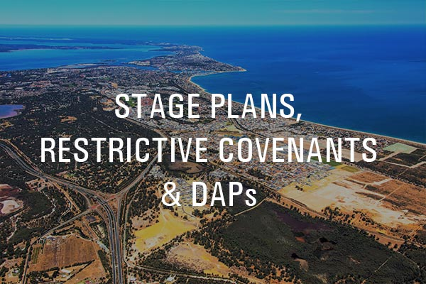 Lakelands Estate Stage Plans Restrictive Covenants and DAPs