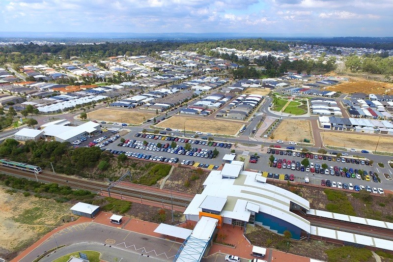 Wellard train station and surrounds aerial